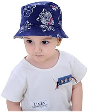 Kids Boys Cats and Lions Sun Protection Hats for Summer Outdoor Play