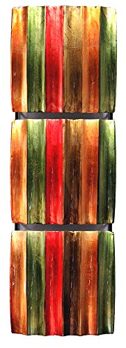 HomeRoots Décor 294480-OT Vertical 3-Panel Metal Wall, Multicolor by HomeRoots Décor (Image #1)