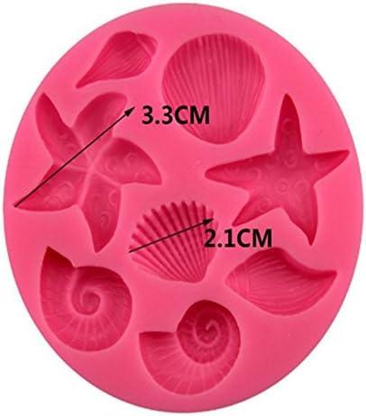 Demarkt Shell Seestern Silikon Form 3D DIY Silikonform Ozean Stil