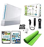 VHS : Nintendo Wii Black System HD Ready + Wii Fit Plus, Balance Board Mat Bundle