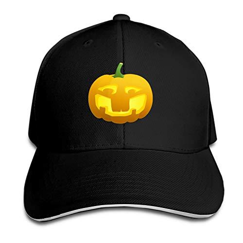 Halloween Happy Pumpkin Snapback Cap Flat Brim Hats Hip Hop Caps for Men Women ()