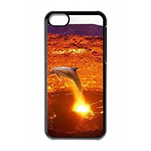 ALICASE Diy Hard Shell Case Dolphin For Iphone 5C [Pattern-1]