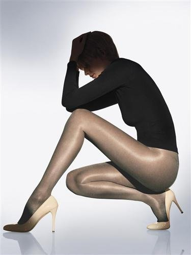 Wolford Satin Touch 20 Denier Pantyhose, Large, Steel