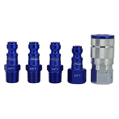 ColorFit by Milton Coupler & Plug Kit - (T-Style, Blue) - 1/4