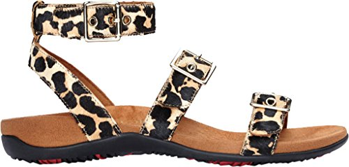 Sandal Leopard Backstrap Sahara Womens Haircalf VIONIC Rest xwXqISRU