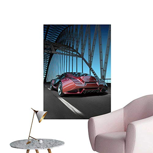 SeptSonne Wall Stickers for Living Room car on Bridge My own car Design not Associate y br Vinyl Wall Stickers Print,32