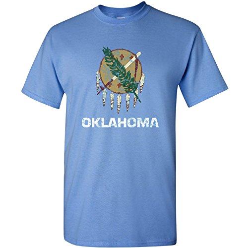 UGP Campus Apparel Oklahoma State Flag Basic Mens T-Shirt - 3X-Large - Carolina Blue
