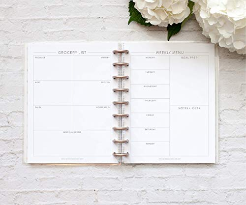 BetterNote Meal Planning Bundle for The Happy Planner, Fits 9-Disc Notebook, 6 Month Supply (Planner Not Included)
