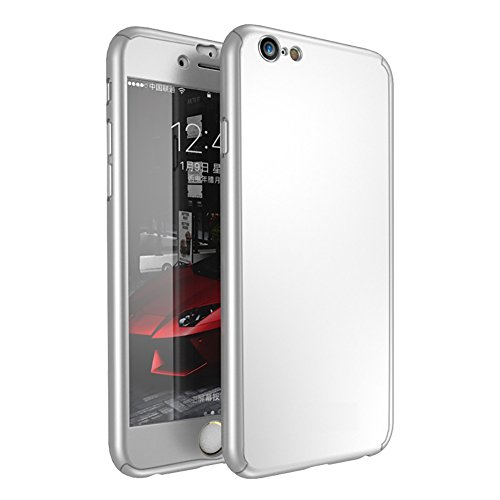 Silver Screen Costume Ideas (Iphone 6 6s 2 in 1 Hard PC Case,Full Body Coverage Protection Cover with Tempered Glass Screen Protector for 6 6s 4.7