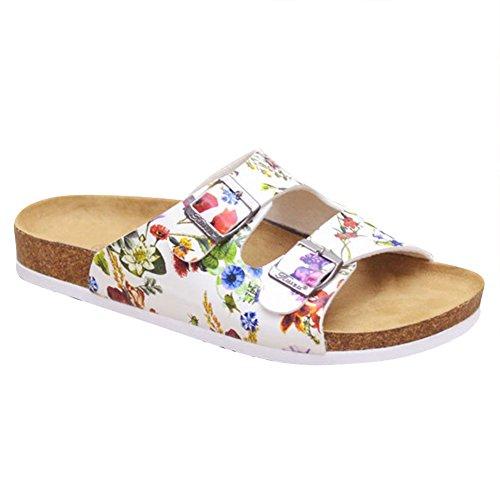 Sandalias de Vestir Zuecos para Mujer Chanclas Flor