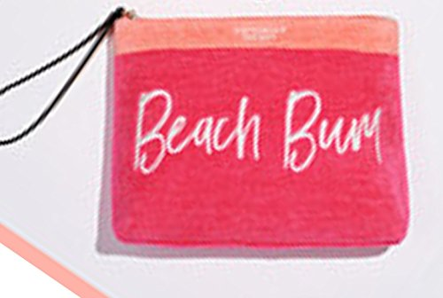 VICTORIA SECRET - SOLD OUT - PINK - BEACH BUM - LIMITED EDITION TERRY CLOTH COSMETIC MAKE-UP ()