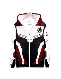 xmeng Boys Avengers Endgame Fans Hoodie 3D Print Superhero Sweatshirt Quantum Pullover