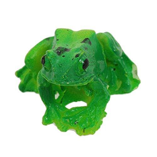 Amazon.com: eDealMax cerámica acuario Paisaje simulado de la rana ornamento, Verde/Amarillo: Pet Supplies