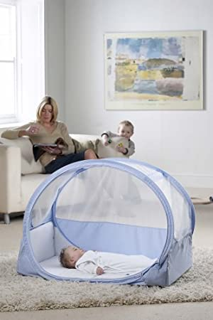Samsonite Pop Up Bubble Travel Cot Blue Amazon Co Uk Baby