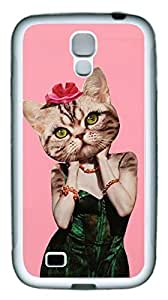 Samsung Galaxy S4 Case TPU Customized Unique Print Design Miss Cat Case Cover For Samsung Galaxy S4