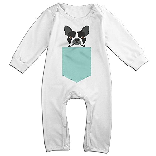 Infant Boston Terrier And French Bulldog Unisex Baby Onesie Romper Long-sleeve