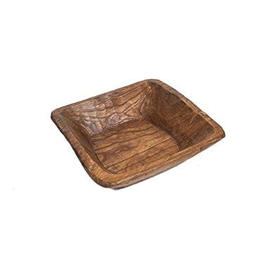 Farmhouse Rustic Wooden Dough Bowl-Batea