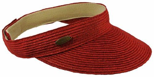 cappelli-straworld-red-paper-braid-visor-hat-w-metallic-sparkles