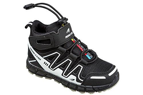 gibra - Zapatillas de sintético/textil para niño Negro - Negro y blanco
