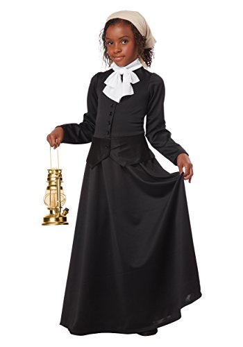 California Costumes Susan B. Anthony/Harriet Tubman Girl Costume, One Color, (Harriet Tubman Costumes)