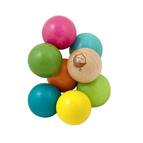 green sprouts Twisting Beads made from Sustainable Wood | Encourages whole learning the healthy & natural way | Easy to clutch & manipulate, Made from sustainable Beech wood with water-based stains