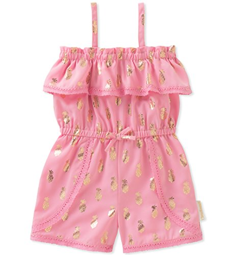 Juicy Couture Baby Girls Romper, Pink/Gold, 24M
