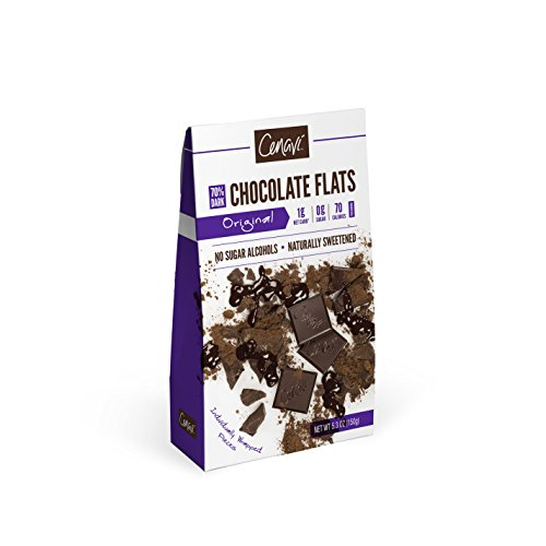 Cenavi 70% Dark Chocolate by Silver Fern Brand - 1 Box - Zero Grams Sugar - Individually Wrapped Squares - Natural - No Sugar Alcohols - Low Net Carb, Low - Square One Brands