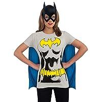 Camiseta DC Comics Batgirl con capa y máscara, negro, grande