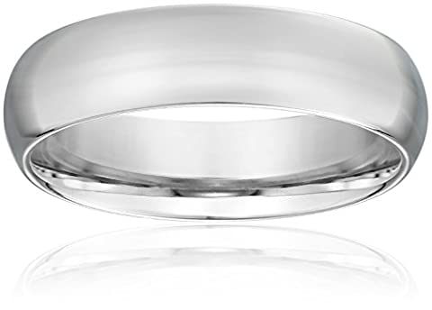 Standard Comfort-Fit 18K White Gold Band, 6mm, Size 10.5 (6 Mm White Gold Band)
