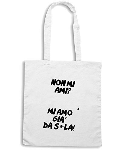 T-Shirtshock - Bolsa para la compra TDM00173 mi amo gia da sola Blanco