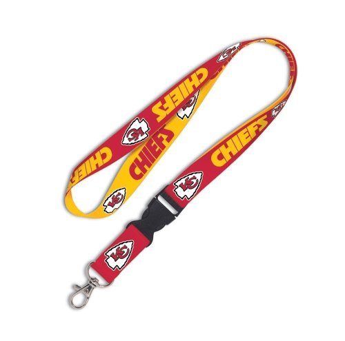 NFL Kansas City Chiefs Lanyard with Detachable Buckle, - Kansas Stores Legends City