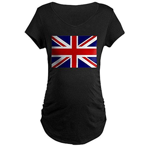 Royal Lion Maternity T-Shirt (Dark) British English Flag HD - Black, - Kate Pregnancy Fashion Middleton