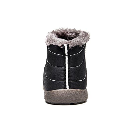 90d7fa179a36cb ... UBFEN Herren Damen Schuhe Winter Warm Gefütterte Stiefel Casual Ankle  Wasserdichte Schneestiefel Sportschuhe Turnschuhe High Top