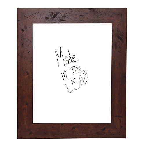 Cheap Rayne Mirrors American Made Rustic Dry Erase Board, 36″ X 42″, Dark Walnut Finish