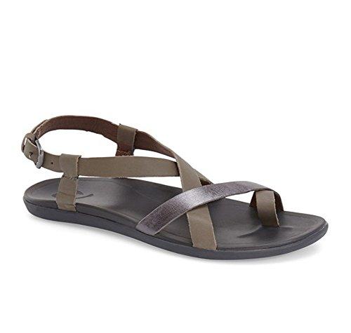 Charcoal Upena Olukai Women's Sandal pewter qzxw6