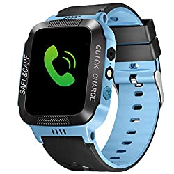 Buybuybuy Smart Watch For Kids,y21s Smartwatches For Girls Boys Phone Watch Camera Sos Alarm Clock, Safety Dual Positioning Child Phone Watch For Kids Birthday Great Gifts (Blue)