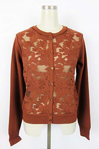 DOUBLE STANDARD CLOTHING(ダブルスタンダードクロージング) ダル糸レース刺繍カーディガン