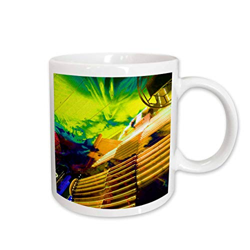 3dRose Jos Fauxtographee- Freemont Street - Bright and colorful Freemont Street in Vegas with tones upped - 11oz Two-Tone Blue Mug (mug_317878_6)