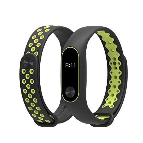 Band,Esharing Durable TPU Anti-off Sports Strap Replacement Wristband Bracelet For XIAOMI MI Band 2 (Green) ()