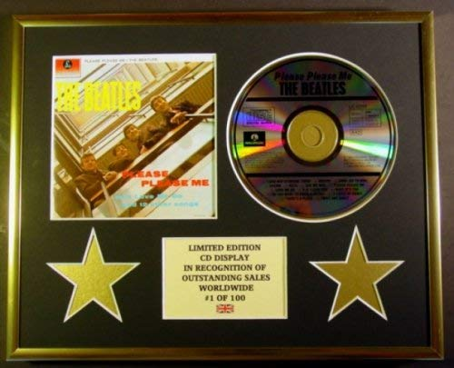 THE BEATLES//CD DISPLAY//LIMITED EDITION//COA//PLEASE PLEASE ME