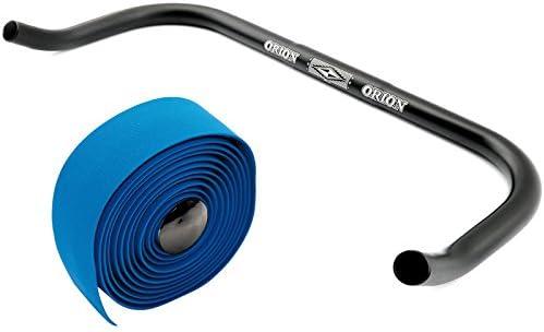 Permanent-Fahrrad Bullhorn Fixie Singlespeed Lenker 400mm breit Schwarz mit Lenkerband
