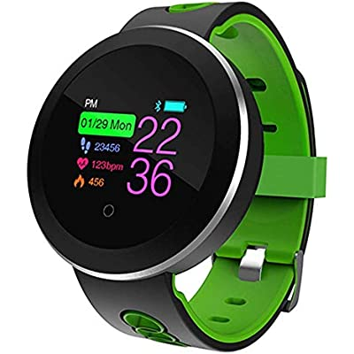 Sports Tracker Green Fashion Design Bluetooth 4 0 Smart Watch 1 0 Lcd For Ios Android Pedometer Heart Rate Tracker Wrist Smart Watch