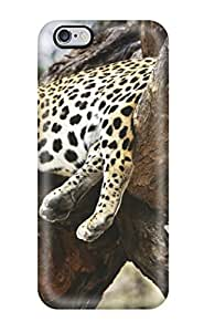 High Grade HowellGraves Flexible Tpu Case For Iphone 6 Plus - Sleeping Cheetah