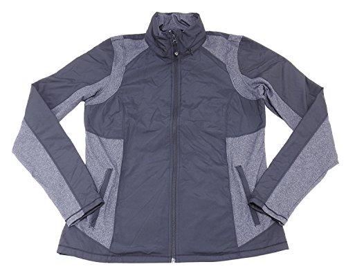 Kirkland Signature Womens Active Jacket with Hidden Hood (Black/Charcoal Colorblock, Medium) ()