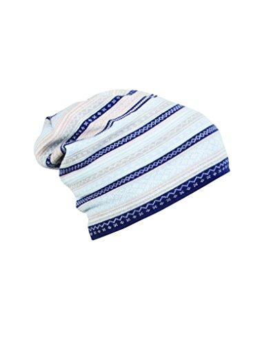 Dale of Norway Women's Vinje Hat, Navy/Beige/Metal/Light Blue/Off - Norway Light Blue