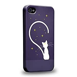 Case88 Premium Designs Art Sailor Moon Crystal Sailor Animated Artemis & Star Protective Snap-on Hard Back Case Cover for Apple iPhone 4 4s by icecream design