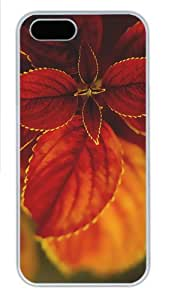 indestructible cover macro red plant PC White Case for iphone 5/5S
