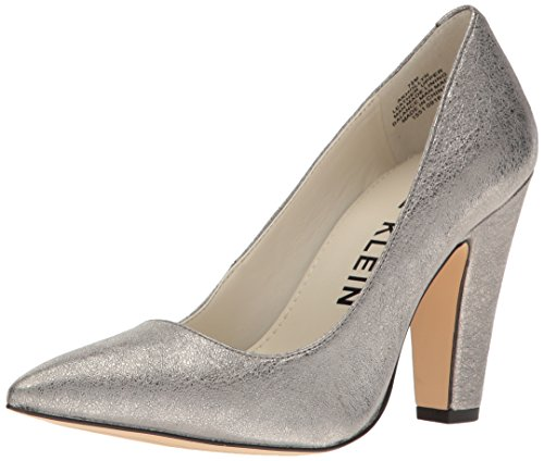 40 Silver Pump (Anne Klein Women's Hollyn Leather Pump, Pewter, 8 M US)