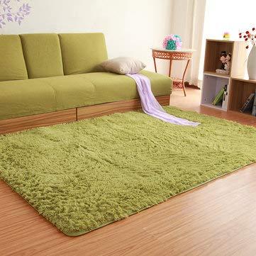 80x120cm Fluffy Anti Skid Shaggy Floor Mat Door Sill Rug Home Bedroom Dining Room Carpet - Carpets, Mats & Rugs Carpets & Rugs - 1x Shaggy anti slip carpet