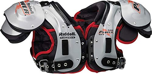 Riddell New Varsity Power SPX QB/WR Football Shoulder Pads Large Silver/Black